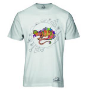 Camiseta Alebrije Lagarto Hombre Blanca