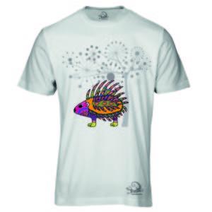 Camiseta Alebrije Puerco Espin Hombre Blanca