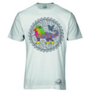 Camiseta Alebrije Leon Pez Hombre Blanca