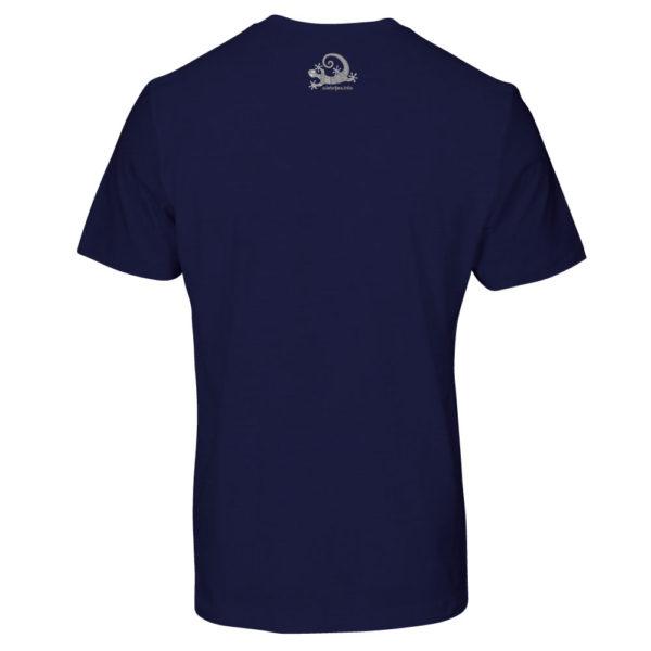 Camiseta Alebrije Hombre Azul Marino Atras