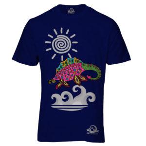 Camiseta Alebrije Elefante Marino Hombre Azul Marino