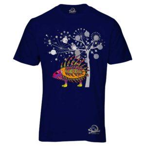 Camiseta Alebrije Puerco Espin Hombre Azul Marino