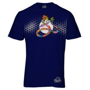 Camiseta Alebrije Serpiente Hombre Azul Marino