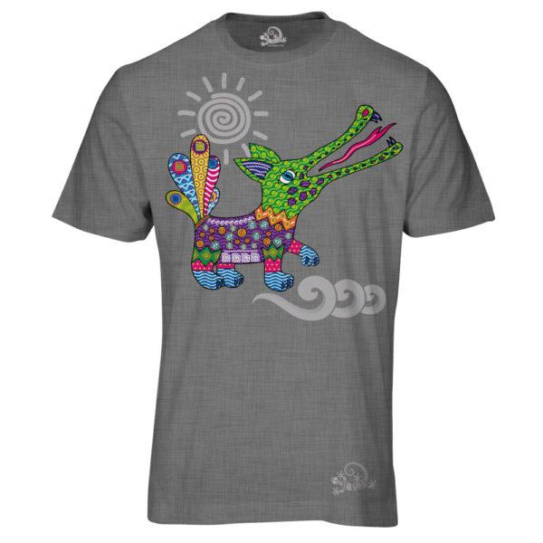 Camiseta Alebrije Cocodrilo Hombre Gris
