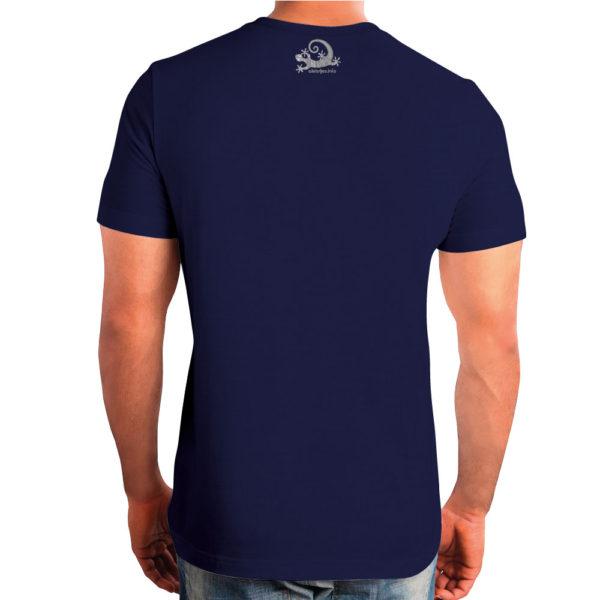 Camiseta Alebrije Hombre Azul Marino Atras Modelo
