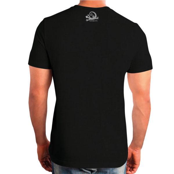 Camiseta Alebrije Hombre Negro Atras Modelo