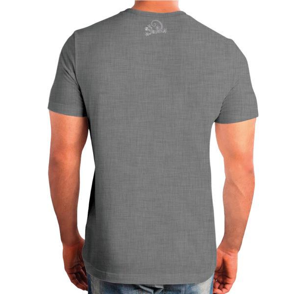 Camiseta Alebrije Hombre Gris Atras Modelo