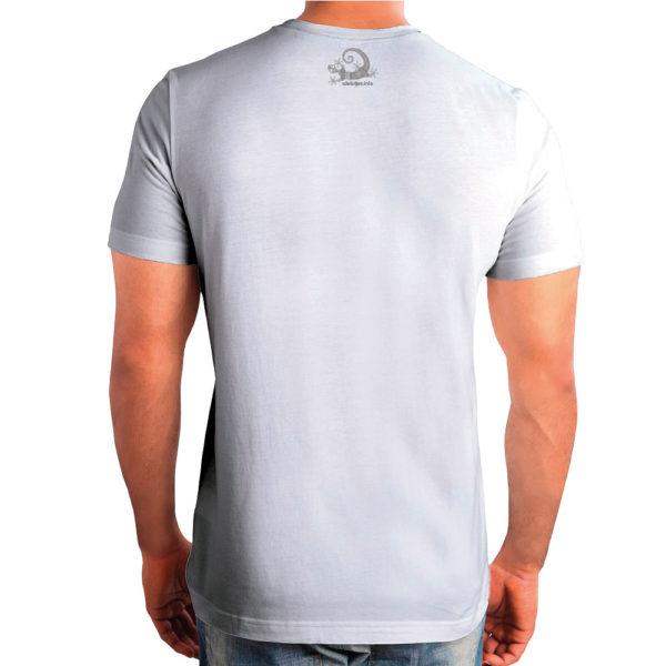 Camiseta Alebrije Hombre Blanca Atras Modelo