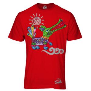 Camiseta Alebrije Cocodrilo Hombre Rojo