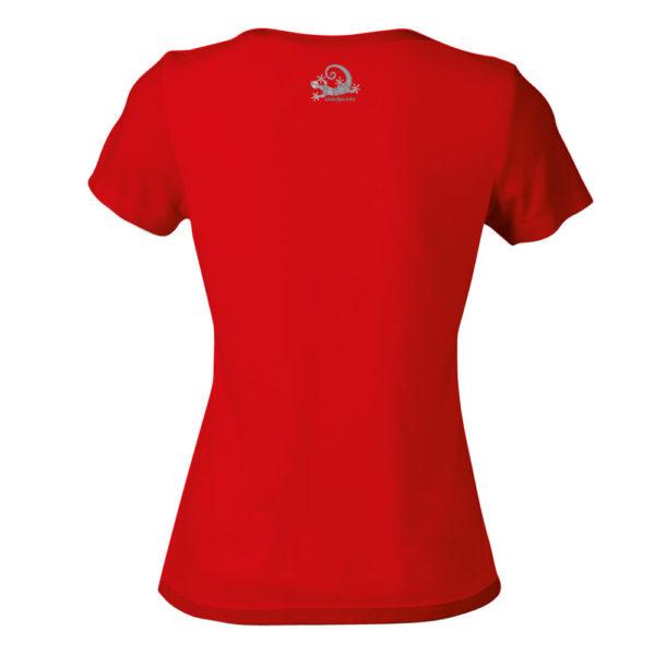 Camiseta Alebrije Mujer Rojo Atras