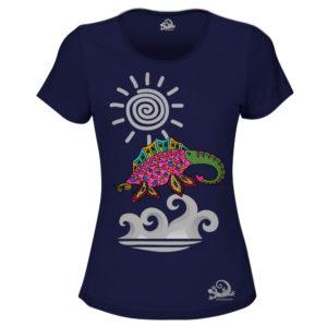 Camiseta Alebrije Elefante Marino Mujer Azul Marino