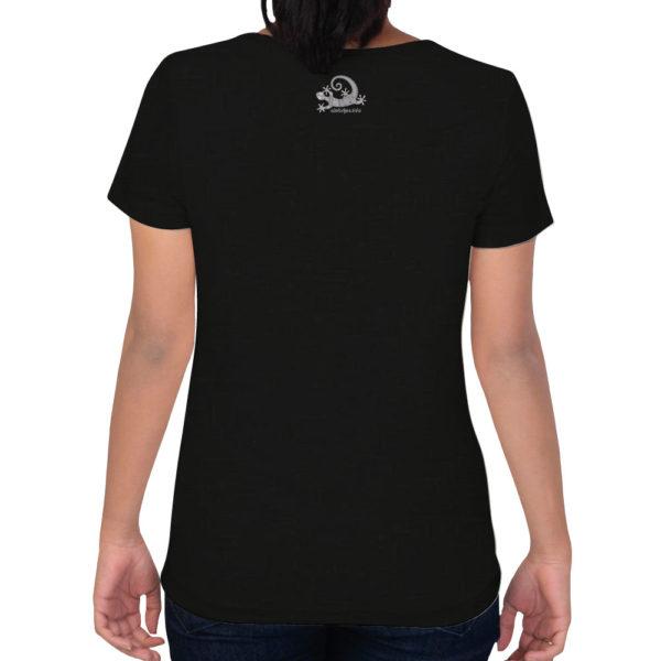 Camiseta Alebrije Mujer Negro Atras Modelo