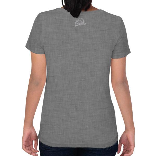Camiseta Alebrije Mujer Gris Atras Modelo