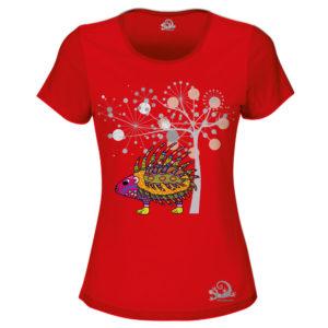 Camiseta Alebrije Puerco Espin Mujer Rojo