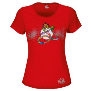 Camiseta Alebrije Serpiente Mujer Rojo